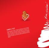 bonbon à salutation de pain d'épice de Noël de carte de cak illustration libre de droits