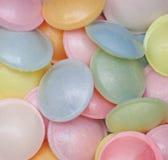 Bonbon à sucrerie formé par UFO dans différentes couleurs Photographie stock