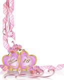 Bonbon 16-Geburtstag-Einladungsrand Lizenzfreie Stockbilder