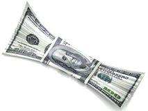 Bonbon billet de banque des 100 dollars. Image libre de droits