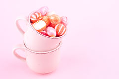 Bonbon candy. In a cup stock photography