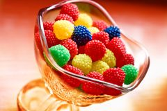 bonbon chewy cup glass sweet tasty 免版税图库摄影