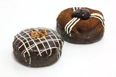 Bonbon : chocolat de brun d'an neuf et beignet de crème Photo stock