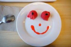 Bonbon et sourire à concept Images libres de droits