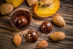 Bonbon fin de chocolat Photographie stock