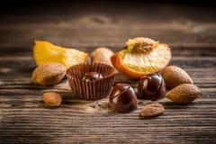 Bonbon fin de chocolat Photos stock