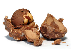 Bonbon with hazelnut Royalty Free Stock Photo