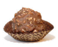 Bonbon with hazelnut Royalty Free Stock Image