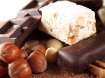 Bonbon italien à torrone Photos stock