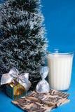 Bonbon, Milch, Hörnchen, Andenken, Baum von Weihnachten Stockfoto