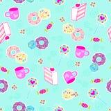 Bonbon-nahtloser Wiederholungs-Muster-Vektor Lizenzfreie Stockbilder