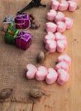Bonbon rose à guimauve de coeur pour le jour de valentine Image libre de droits