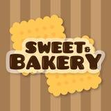 Bonbon-und Bäckerei-Hintergrund-Vektor Stockbilder
