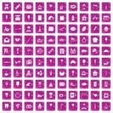 100 Bonbonikonen stellten Schmutzrosa ein Stockbilder