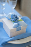 Bonbonniere candy-box. Wedding tablecloth Stock Images