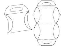 Bonbonniere de la caja de cartón Cartulina blanca Carry Box Bag Packaging, aislado en el fondo blanco libre illustration