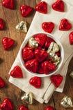 Bonbons à coeur de bonbons au chocolat Photos stock