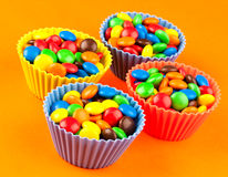 Bonbons à gâteau de cuvette Image libre de droits