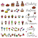Bonbons à griffonnage Images libres de droits