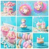 Bonbons à licorne pour une partie photo stock