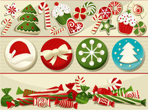 Bonbons à Noël Image stock