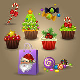 Bonbons à Noël Photographie stock