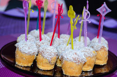 Bonbons à noix de coco de partie faits par maison image libre de droits
