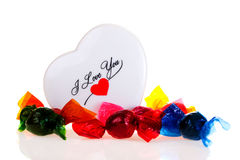 Bonbons à Valentine Photo stock