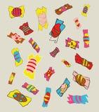 bonbons ζωηρόχρωμο γλυκό διανυσματική απεικόνιση