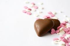 Bonbons шоколада с формой и конфетами сердца Стоковое Фото