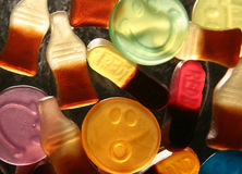 Bonbons allumés par dos Photos libres de droits