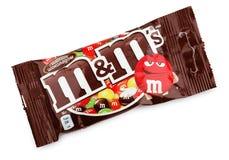 Bonbons au chocolat à lait du ` s de M&M Photos libres de droits