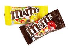 Bonbons au chocolat à lait du ` s de M&M Images libres de droits