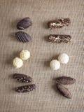 Bonbons au chocolat Photos stock