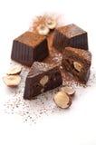 Bonbons au chocolat cassés Image libre de droits