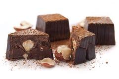 Bonbons au chocolat cassés Photos libres de droits