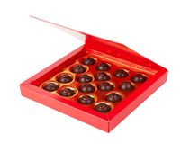 Bonbons au chocolat dans une bo?te photos libres de droits