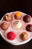 Bonbons au chocolat, fin, verticaux Photo stock