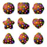 Bonbons au chocolat pour le jeu du match trois Photos libres de droits