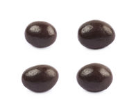 Bonbons au chocolat simples d'isolement Images stock