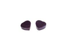 Bonbons au chocolat sous forme de coeur - un cadeau au sien aimé le jour du ` s de Valentine Photographie stock libre de droits
