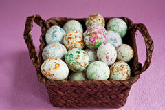 Bonbons in a basket Royalty Free Stock Photos