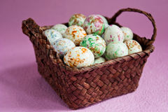 Bonbons in a basket Royalty Free Stock Photography