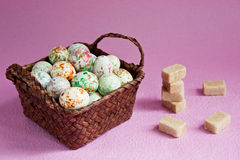 Bonbons in a basket Royalty Free Stock Image