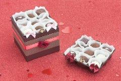 Bonbons boxas in Arkivfoton