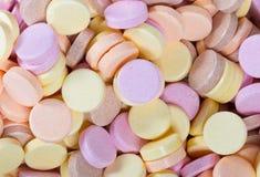 Bonbons colorés à sorbet à manger et comme fond Image stock
