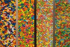 Bonbons colorés taiwanais dans des boîtes Images libres de droits
