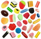 Bonbons d'isolement à sucrerie Photographie stock libre de droits