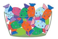 Bonbons dans un bel emballage par vacances un cadeau illustration stock