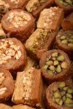 Bonbons du Moyen-Orient à baklava Image stock